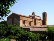 Chiesa di San Francesco vista dai giardini della rocca
