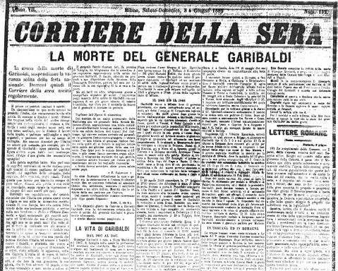 Blog la maddalena e morto giuseppe garibaldi for Casa corriere della sera