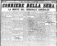 Corriere della Sera - Articolo Giuseppe Garibaldi