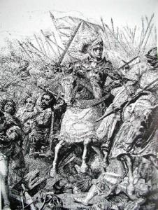 Stampa raffigurante la Battaglia di Agnadello