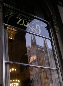 "La vetrina del ""Caffè Zucca"""