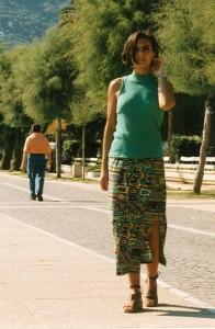 Rosa Tiziana Bruno sul lungomare di Salerno