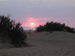 Tramonto tra le dune di Piscinas