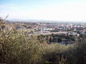 La zona industriale vista dal centro storico