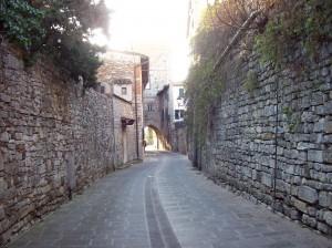 Uno scorcio del borgo medievale