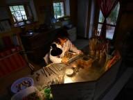 Francesca nel suo laboratorio