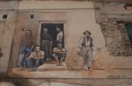 Un murale della zona antica