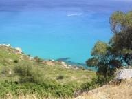 La spiaggia Proceddus vista dalla strada panoramica
