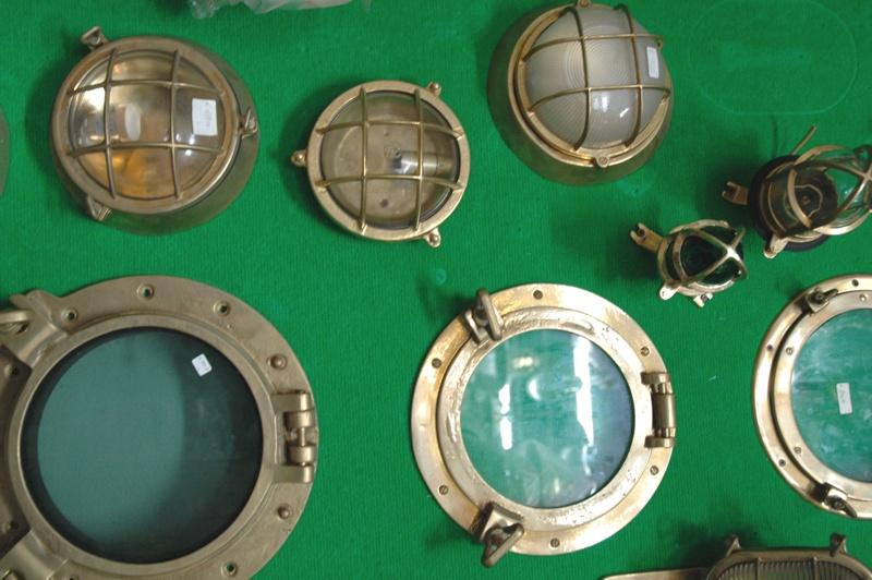 Plafoniere Ottone Stile Nautico : Lampade ottone nautica