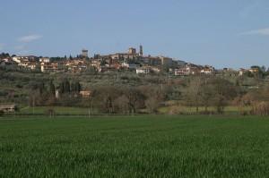 Foto panoramica di Lucignano
