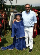 La presidenta Armida Macchi Porta e lo chef Vissani