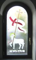 Decorazione vetro finestra