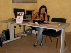 Lucia Piga all'interno del Museo minerario