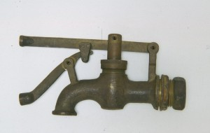 Uno dei rubinetti esposti