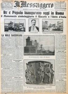 Il Messaggero del 4 giugno 1911