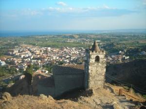 panorama di Calatabiano dal castello