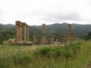 veduta laterale del tempio