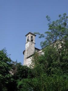 Il campanile della chiesa di Bassano