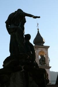 Il campanile della parrocchiale di Brinzio