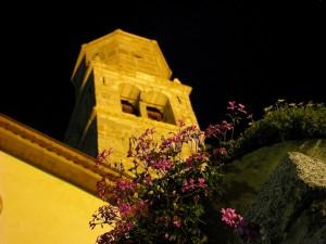 Prospettiva del campanile della chiesa S.Rocco