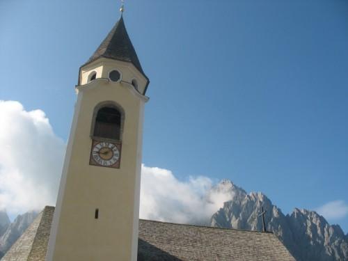Sappada - Il campanile della chiesa di Cima Sappada