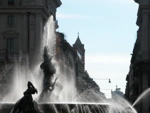 Fontana di Piazza della Repubblica - Particolare