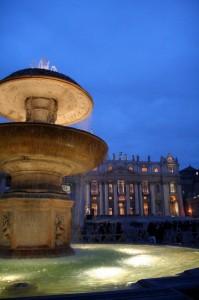 La fontana di Piazza San Pietro