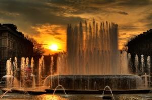 Alba in Piazza Castello - Milano