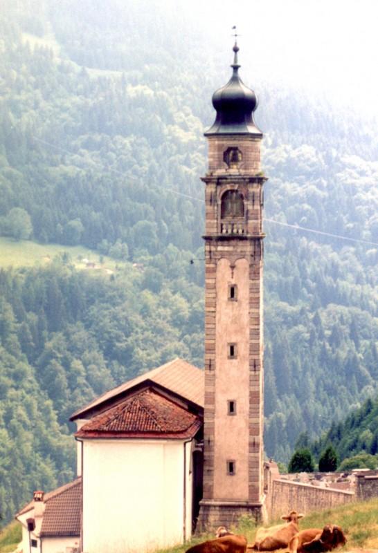 ''La chiesa si Aune ( retro )'' - Sovramonte
