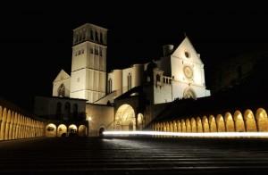 La Basilica di San Francesco in una Fredda Sera d'Inverno