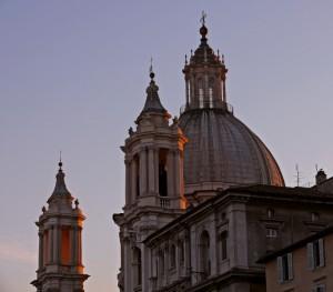 Inizia il tramonto su S. Agnese (2)