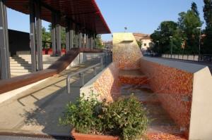 La nuova fontana sul ponte