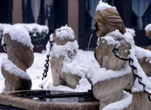 """bergamo che """"conta…rini"""" sotto la neve"""