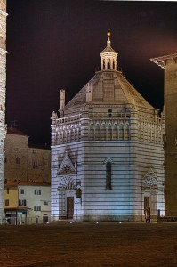 Battistero Pistoia by night