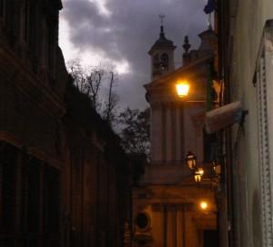 Notturno autunnale: Santa Maria dell'Orazione e Morte