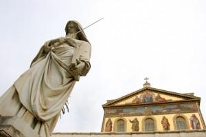 particolare basilica di San Paolo fuori le mura
