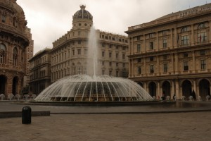 Fontana in Piazza De Ferrari