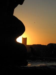 Ospite al tramonto