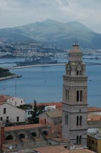 Il duomo di Gaeta ed il porto