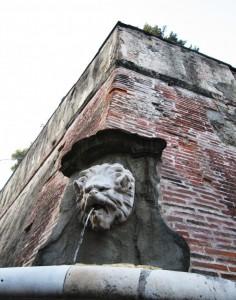 Fontana del Mascherone, vista frontale
