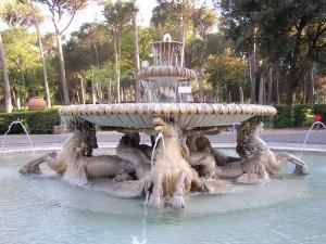 La fontana in Piazzale dei Cavalli Marini
