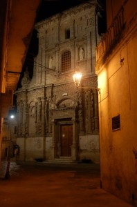 Nardò Chiesa di San Domenico by night
