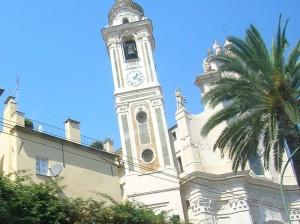 chiesa sulla riviera ligure…venendo da Savona verso Genova