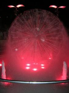polvere d'acqua in una notte rosa