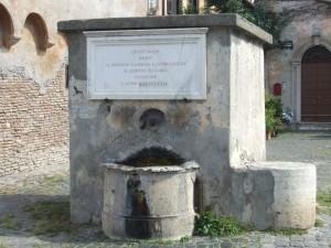 Fontana del borghetto di Ostia Antica