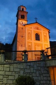 Chiesa di Preore all'alba