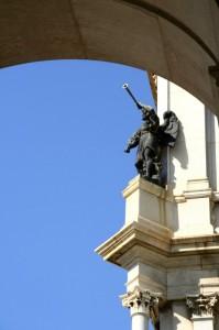 Particolare del campanile del Santuario di Pompei