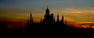 Tramonto sulla Certosa di Pavia