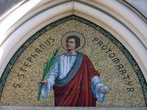mosaico sulla facciata di S. Stefano