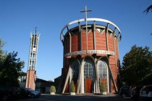 La moderna chiesa di Vigolzone